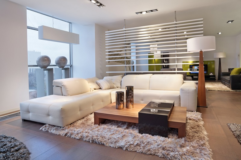 Spectacular living room design with the comfiest sofa