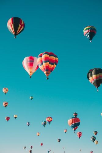 Summer balloon festival wallpaper background