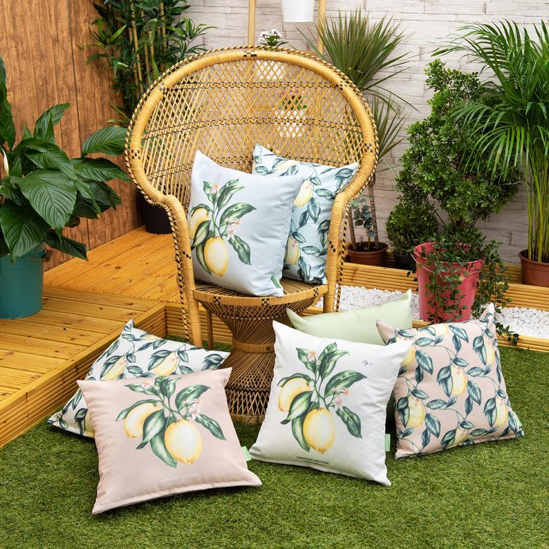 Summery print Waterproof outdoor pillow covers