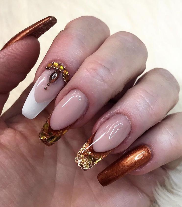 Super glam long nails art