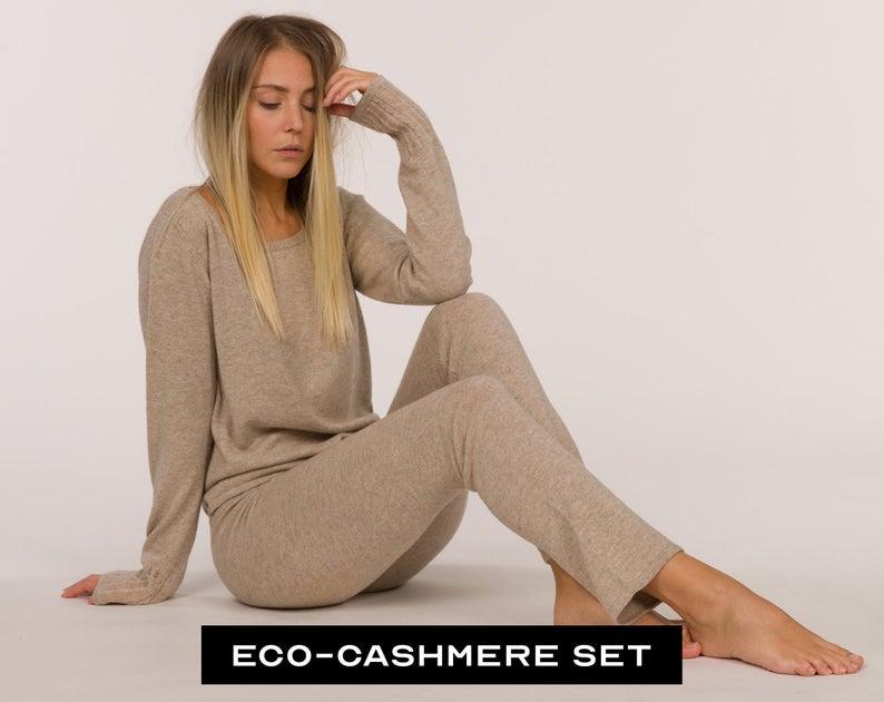 Sustainable Cashmere Set. Cashmere Lounge wear