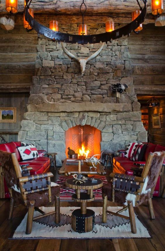 Traditional cottage with open fireplace that looks extremely inviting