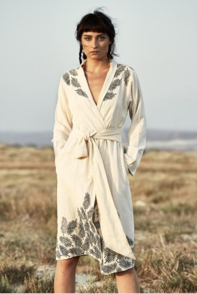 Turkish Cotton linen boho bathrobe