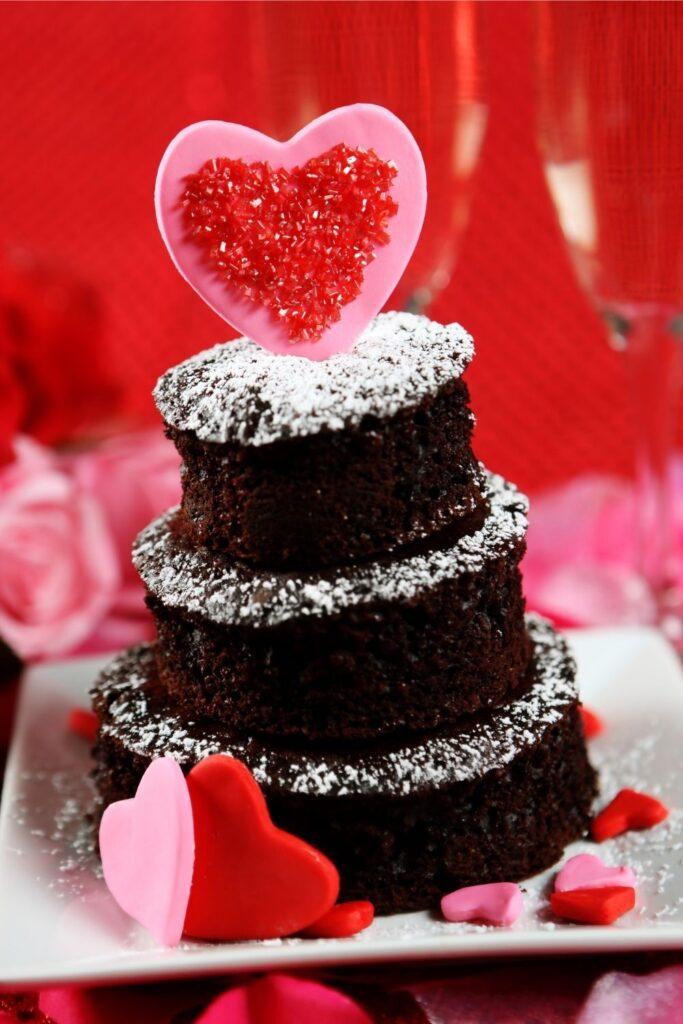 Valentines Day tiered cake decoration