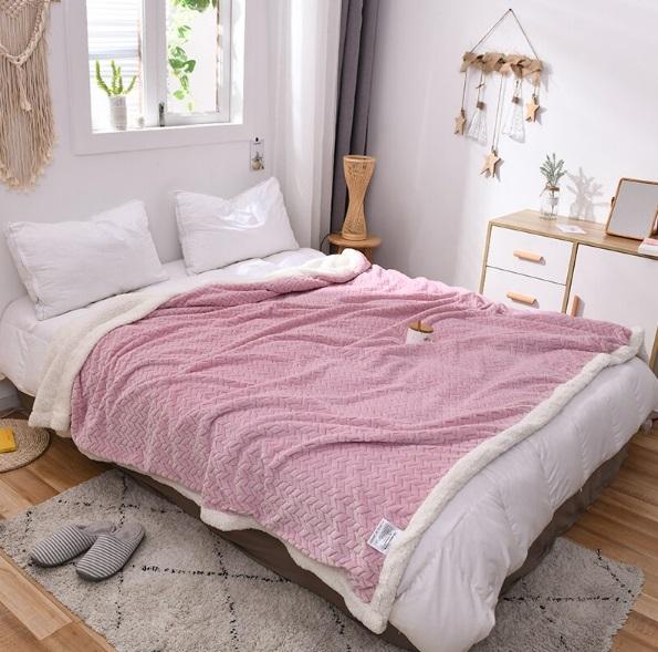 Wheat pattern Lamb velvet Blanket Soft Flannel Sofa wool Fleece Warm Throws