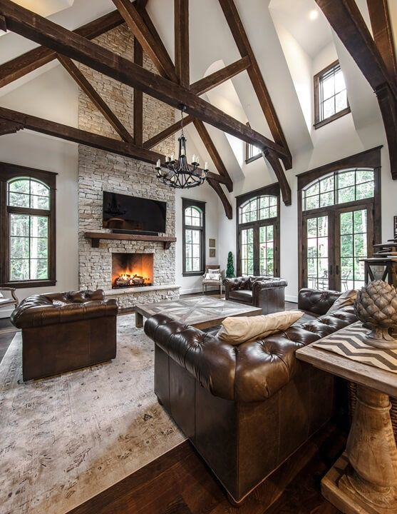 Stone fireplace irresistible not to snuggle up watching a good movie and enjoy a cup of tea