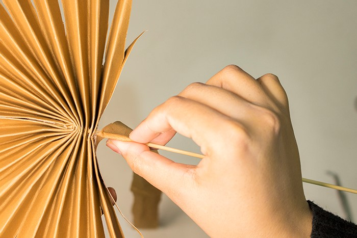 how to make paper palm leaves step by step