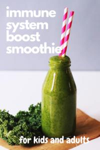 kiwi and kale smoothie recipe. immune system boost smoothie recipe