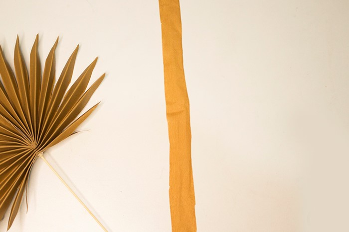 step six to make paper palm leaves