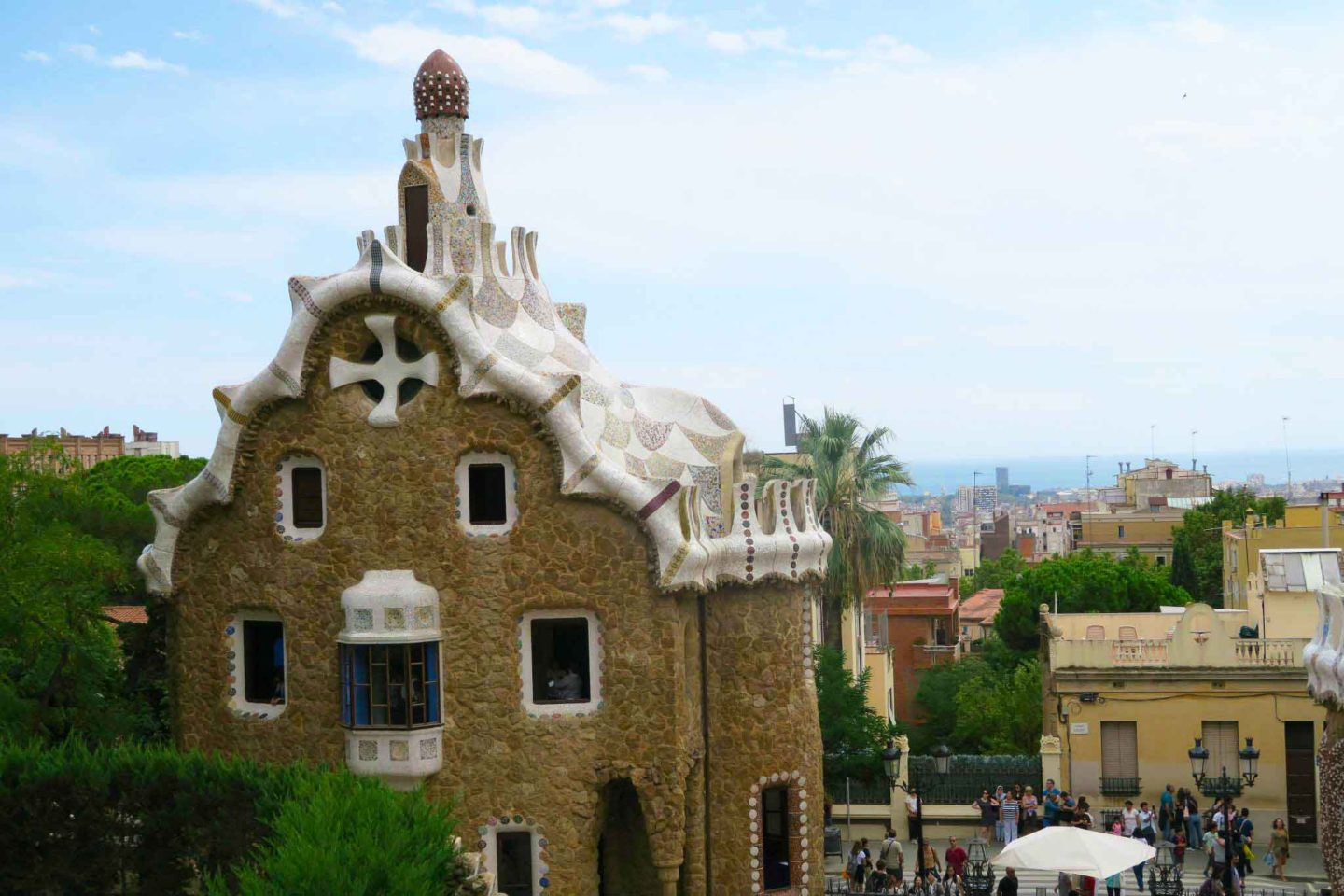 park guell gaudi architecture in Bracelona, Spain