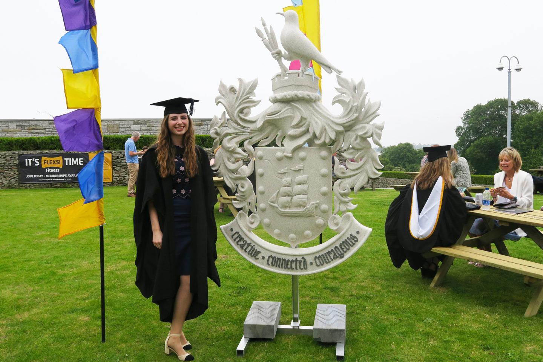 melissa carne graduation falmouth university cornwall