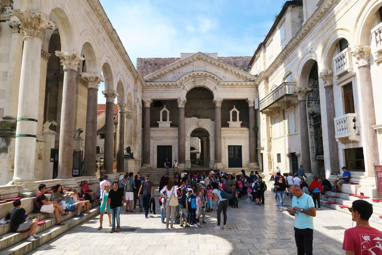Saint Domnius palace in Split in Croatia