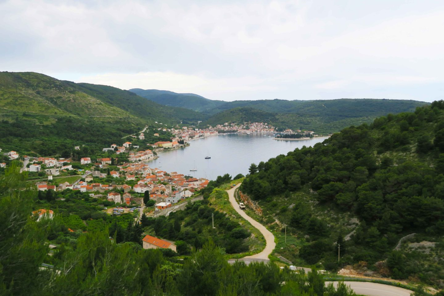 Vis town in Croatia