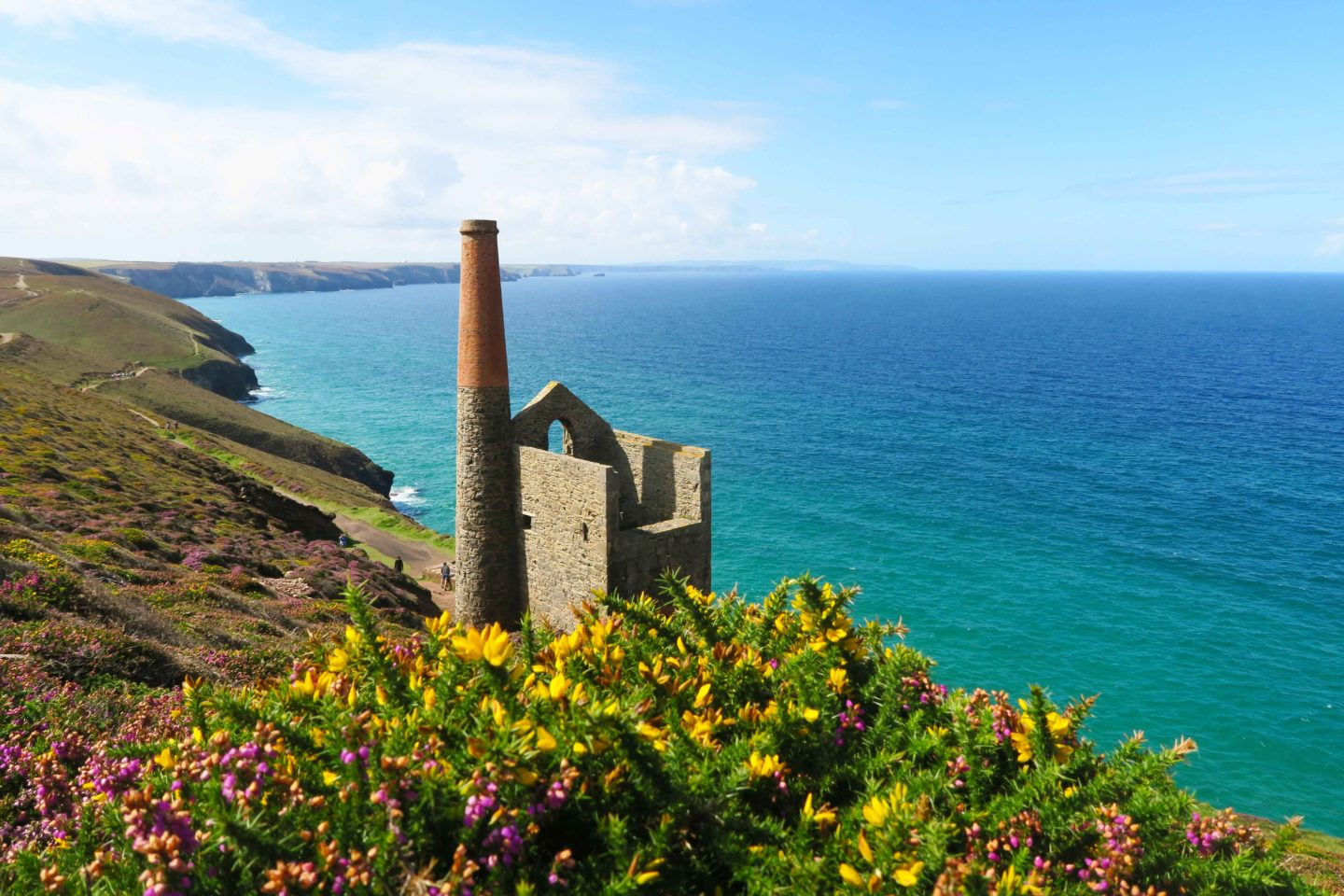 tin mine at wheal coates in cornwall
