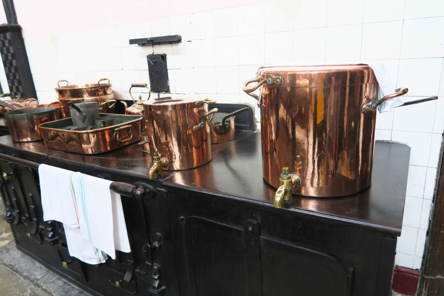 copper cooking equipment at lanhydrock house in cornwall