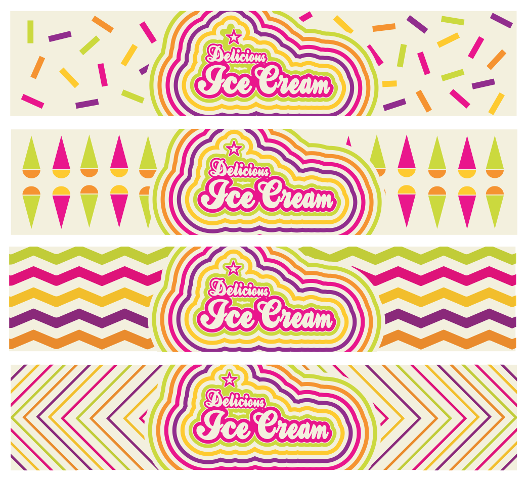 fun ice cream tub design by freelance graphic designer melissa carne