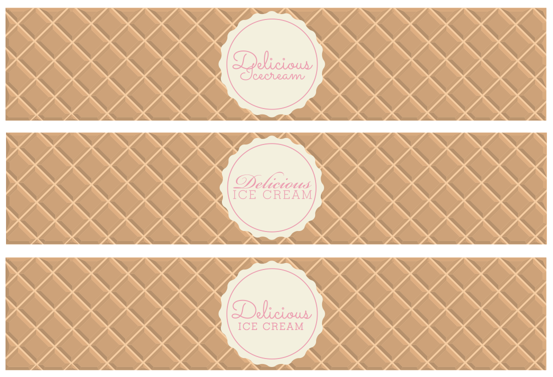 ice cream waffle tub design by freelance graphic designer melissa carne