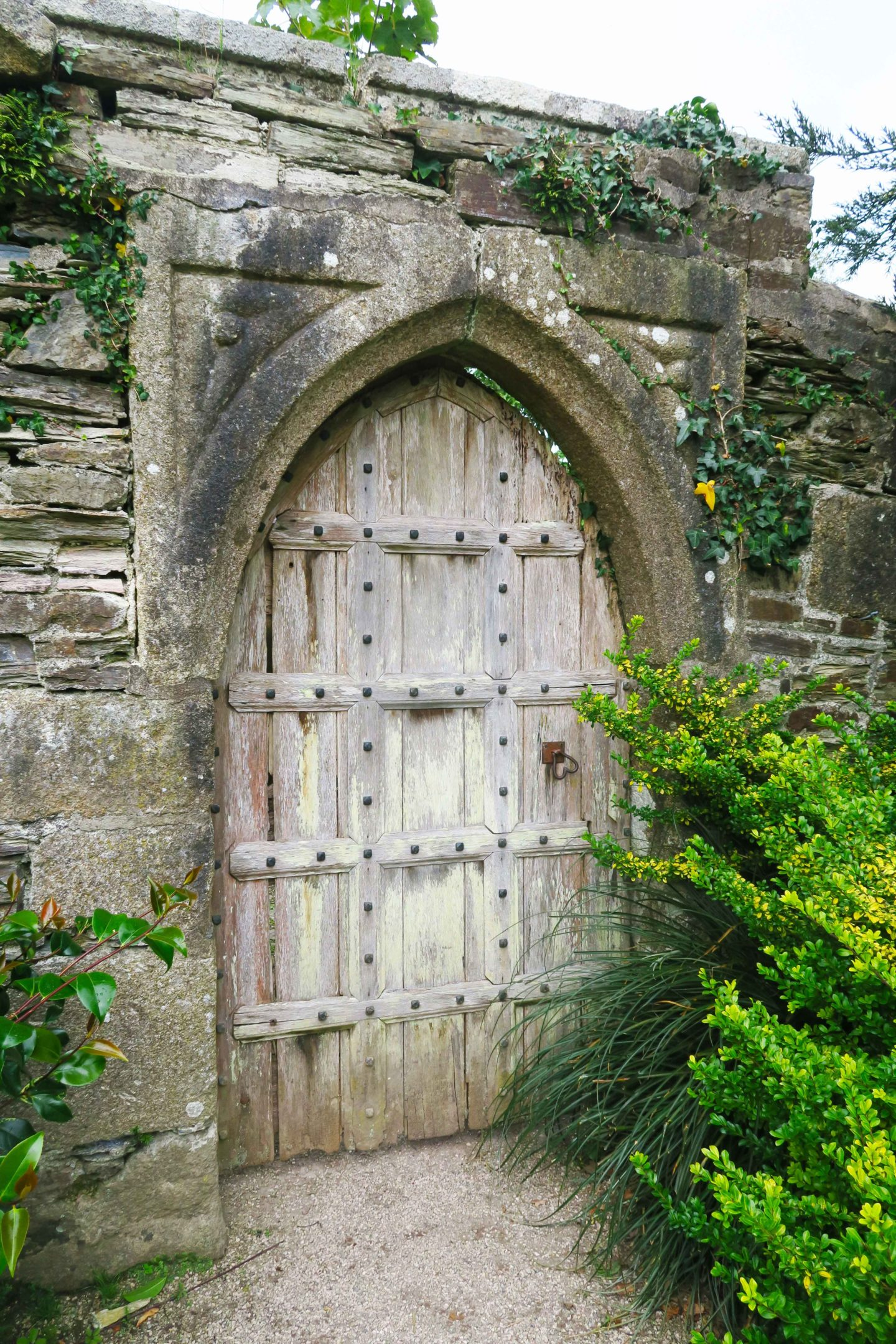 lanhydrock door owned by the national trust in cornwall