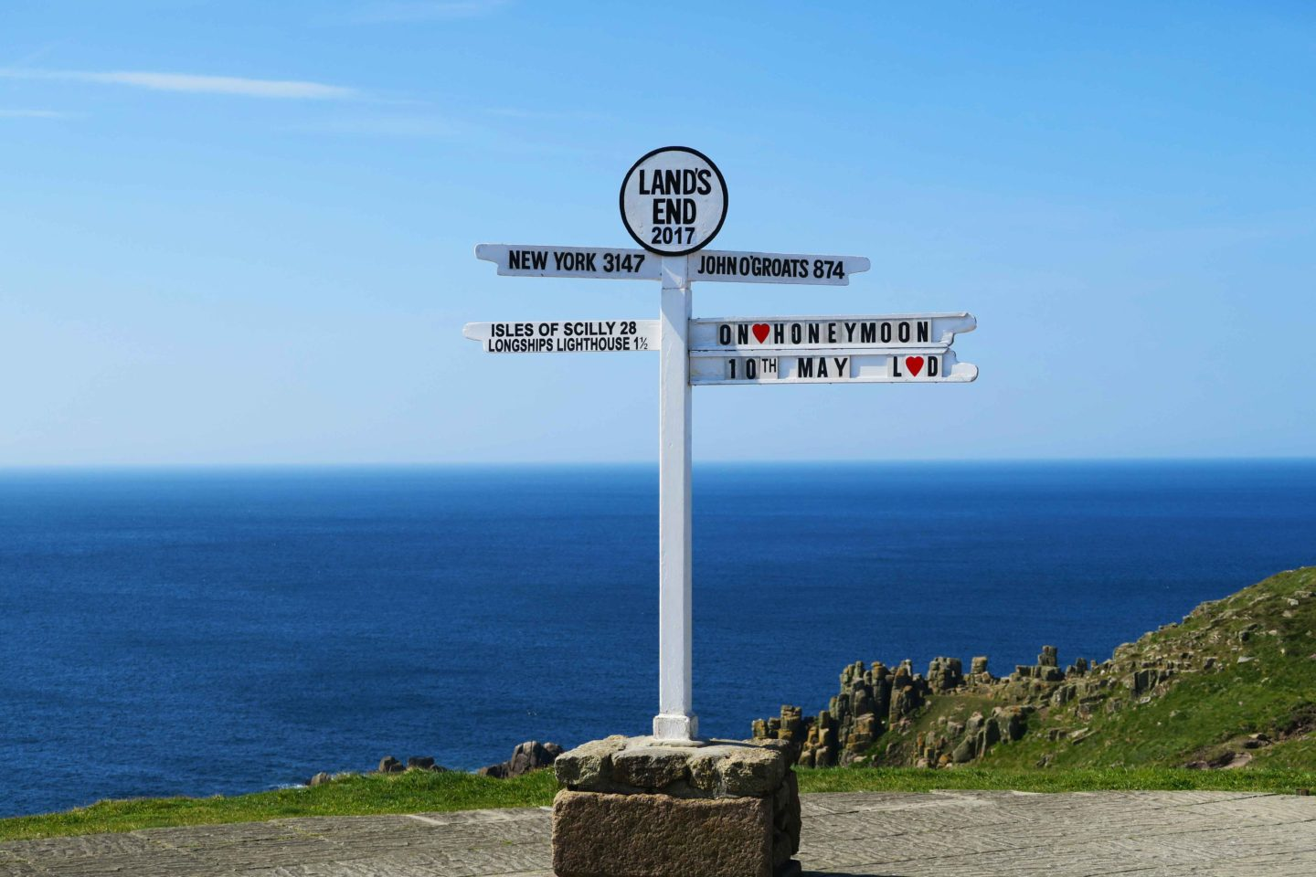 land's end sign in cornwall england