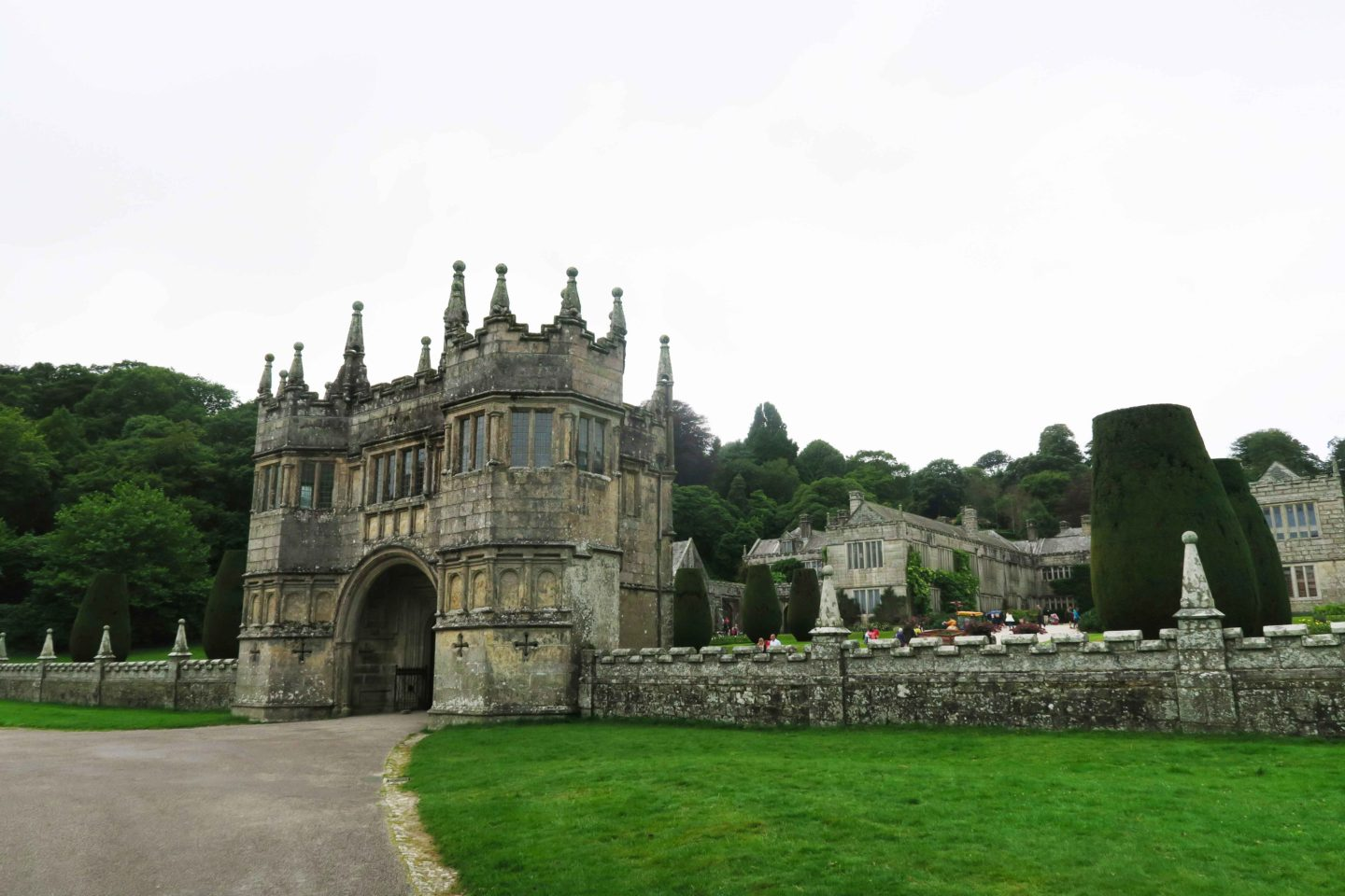lanhydrock entrance owned by the national trust in cornwall