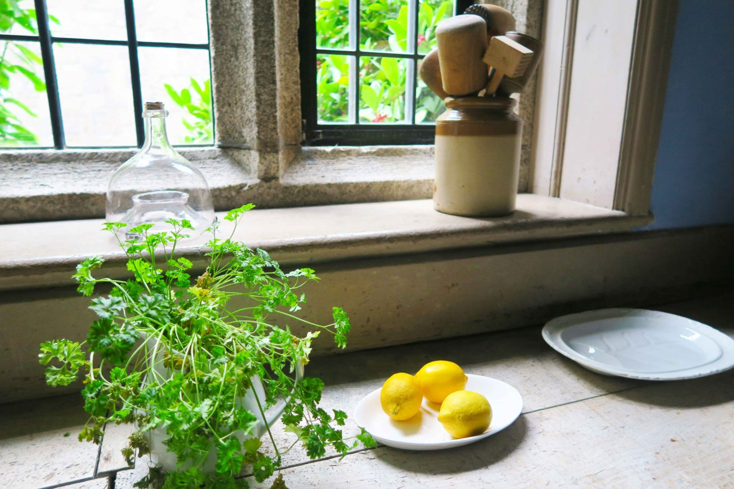 lemons in kitchen at lanhydrock house owned by the national trust