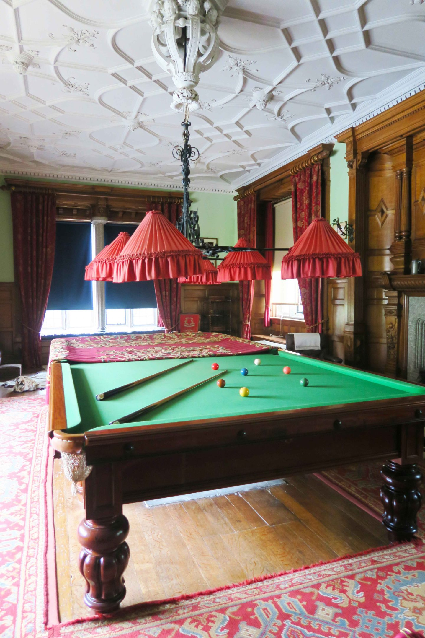 lanhydrock pool table and room located in cornwall