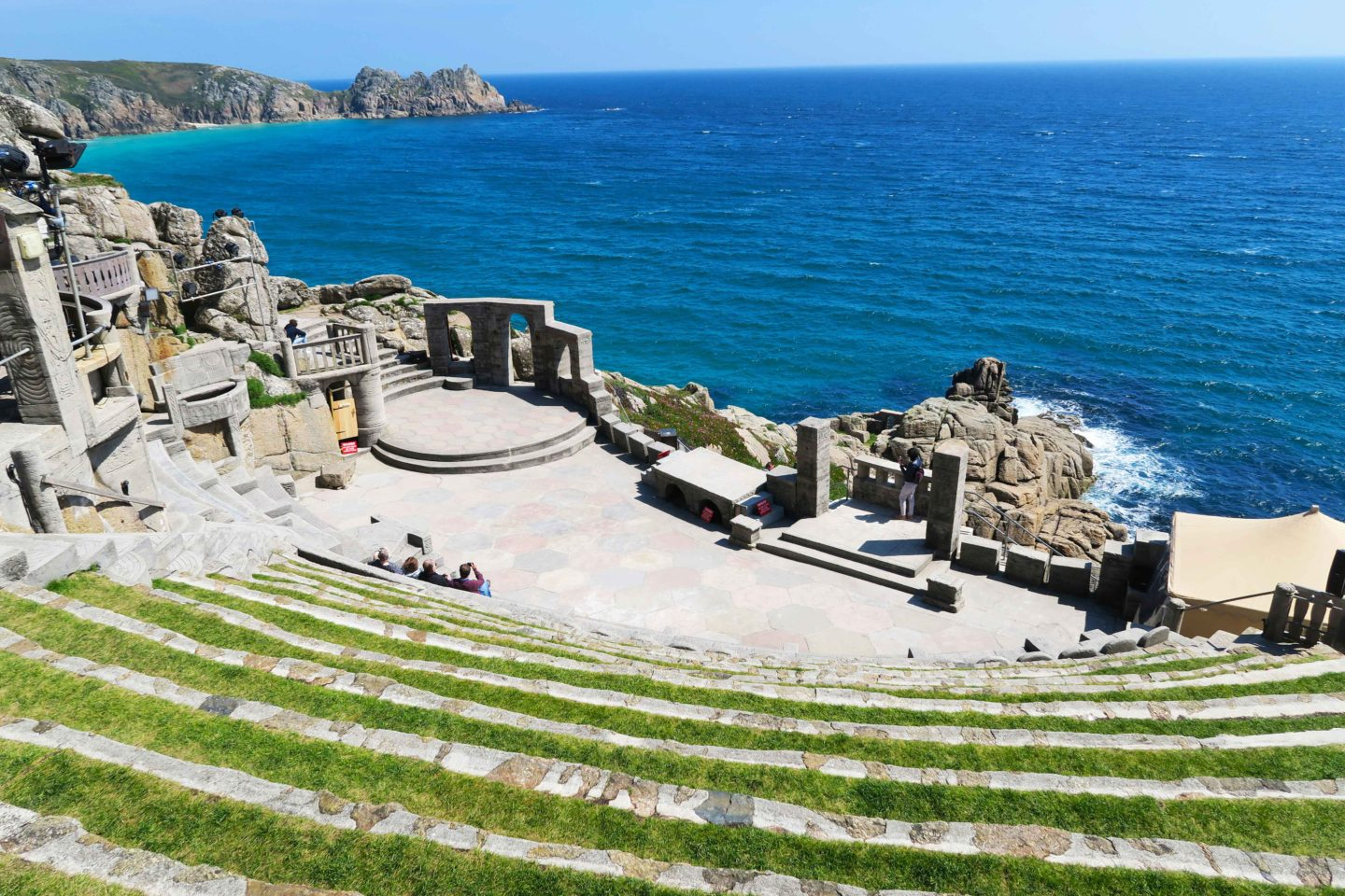 minack theatre on a sunny day at porthcurno cornwall