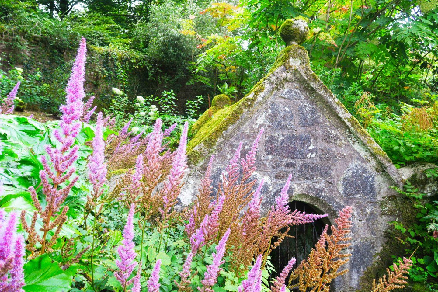 old hut at lanhydrock house near bodmin in cornwall
