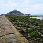 st michaels mount causeway low angle shit in cornwall