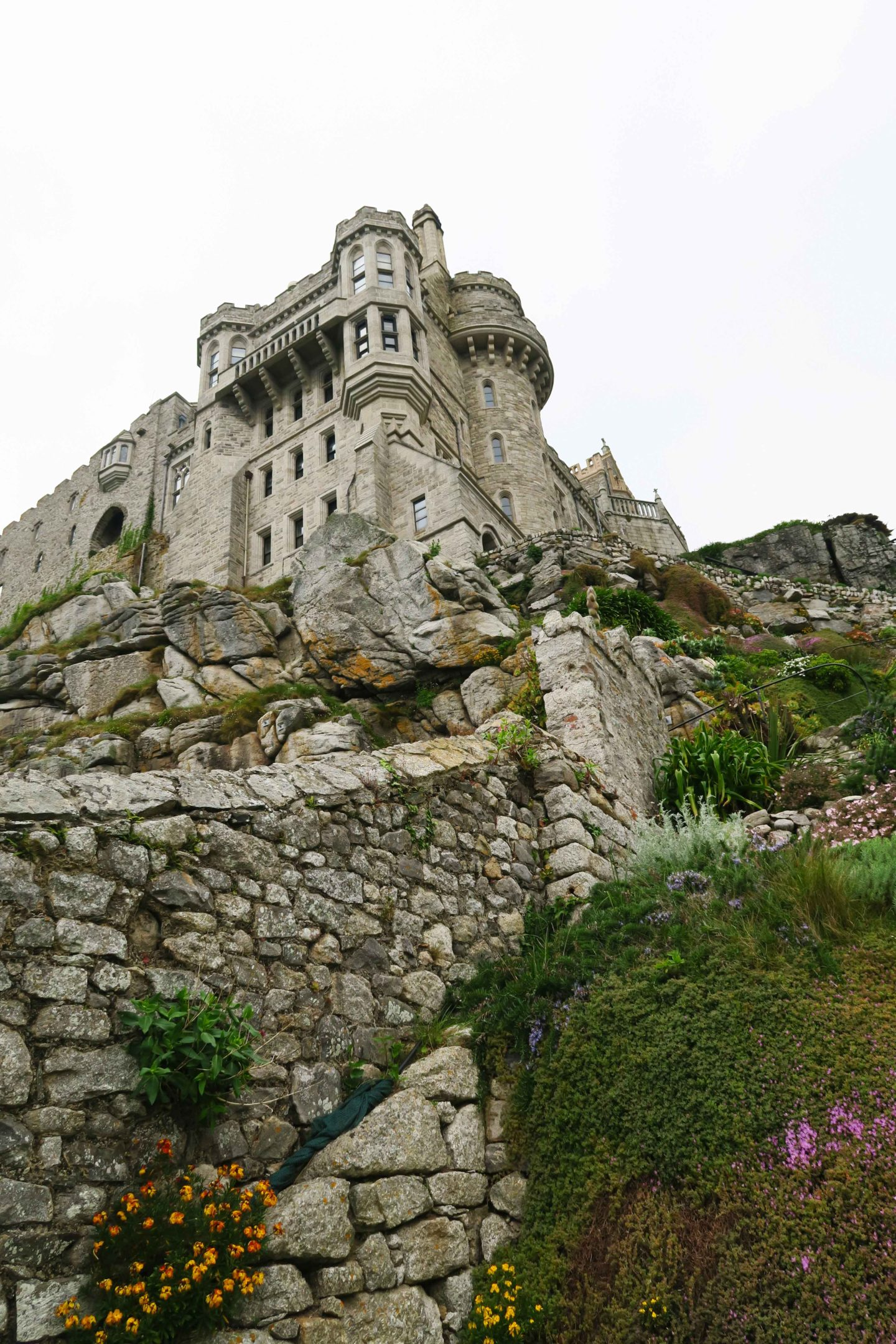 st michaels mount castle owend by the national trust in cornwall