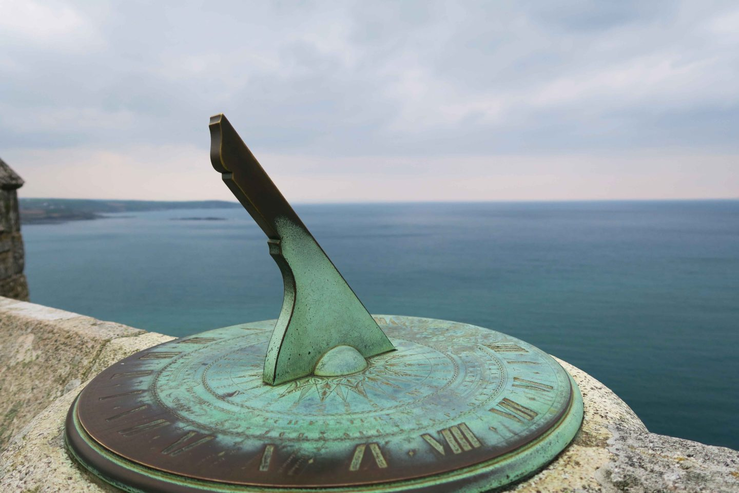 st michaels mount garden sun dial