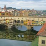 ponte vecchio view from uffizi gallery