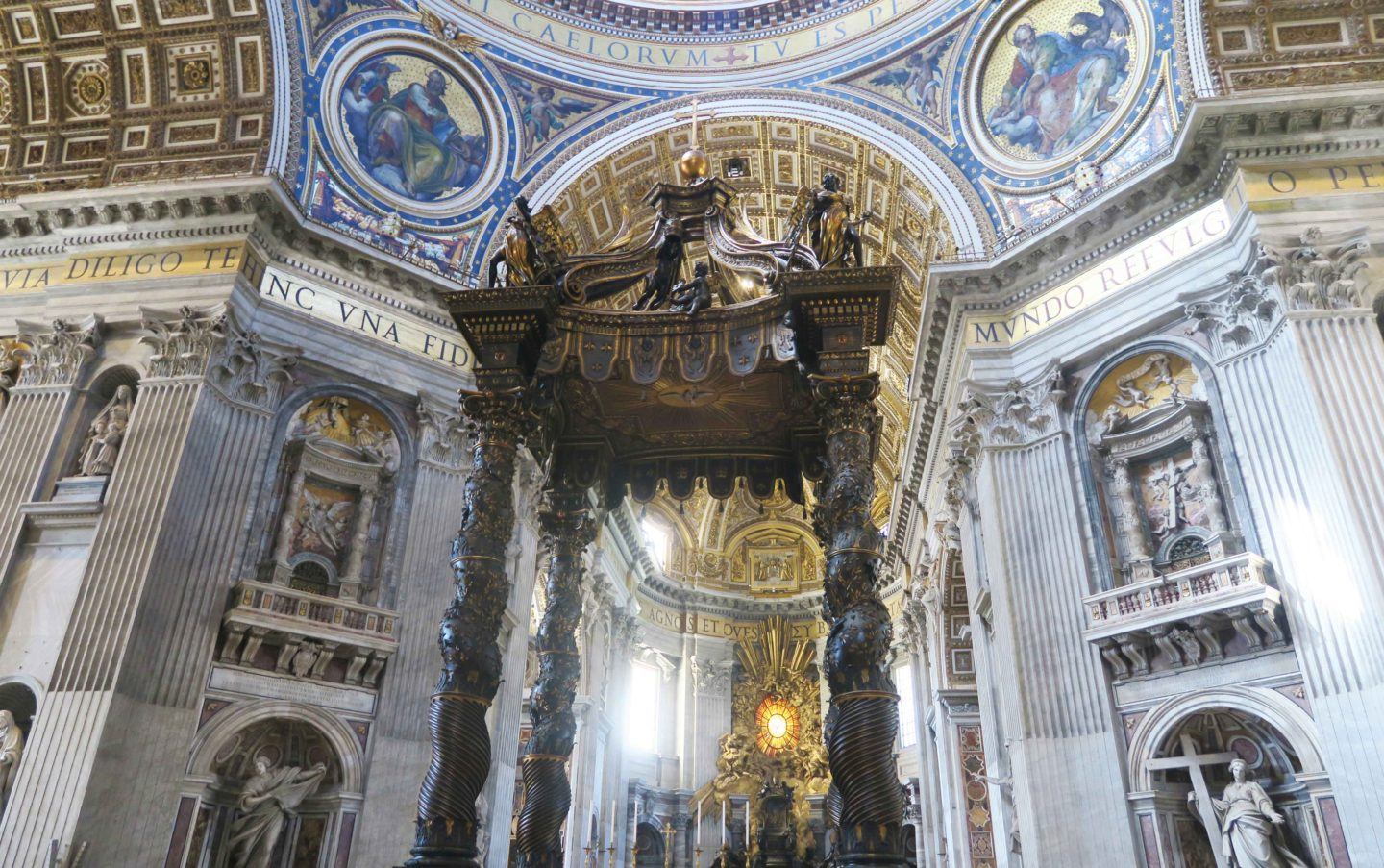 architecture inside the vatican in rome