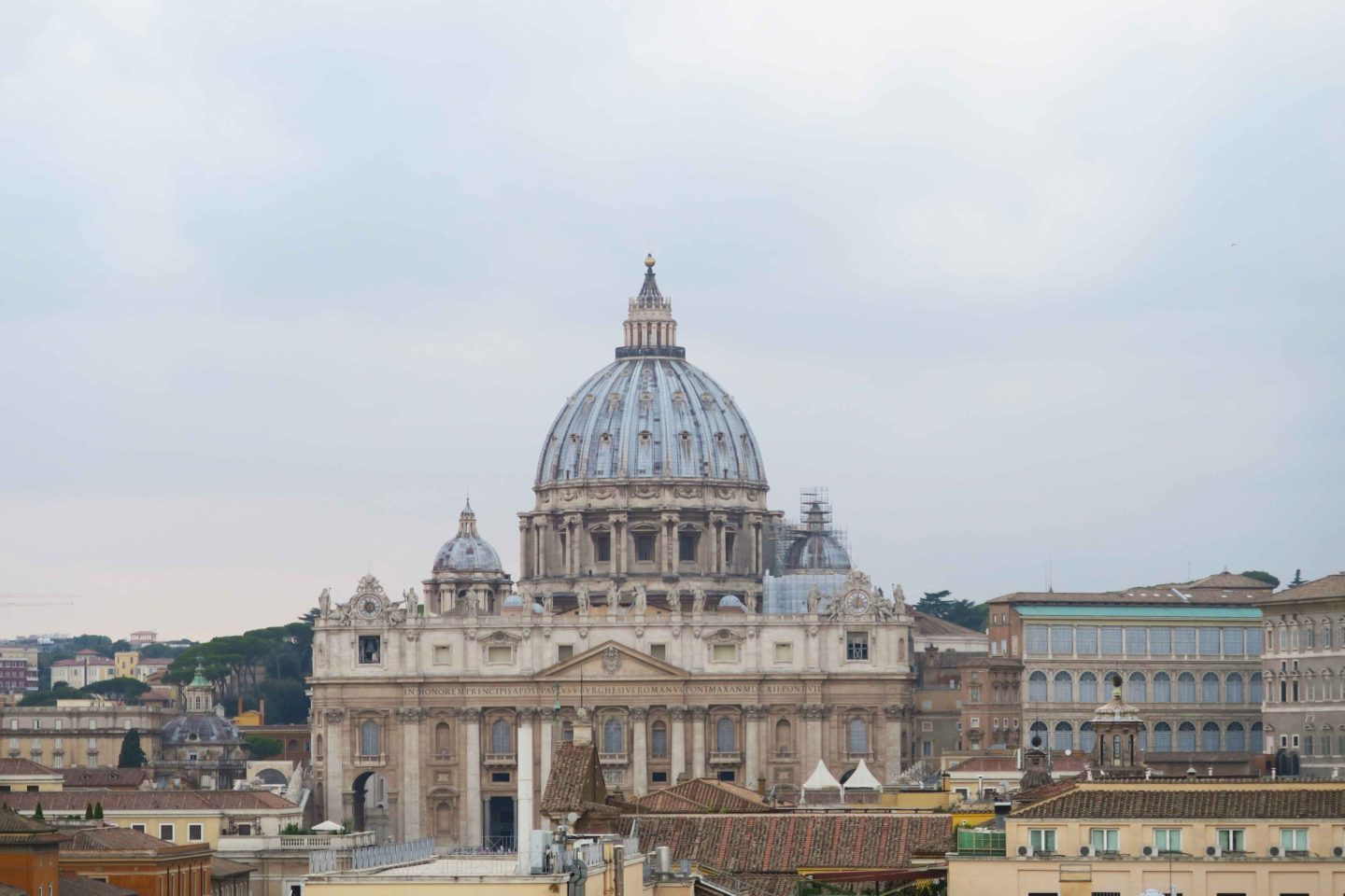 vatican from distance in rome