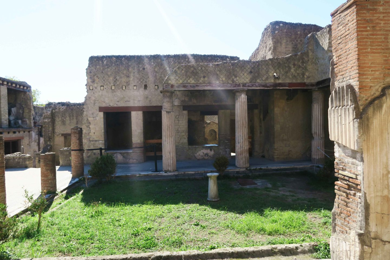 herculaneum pillars near naplesin italy