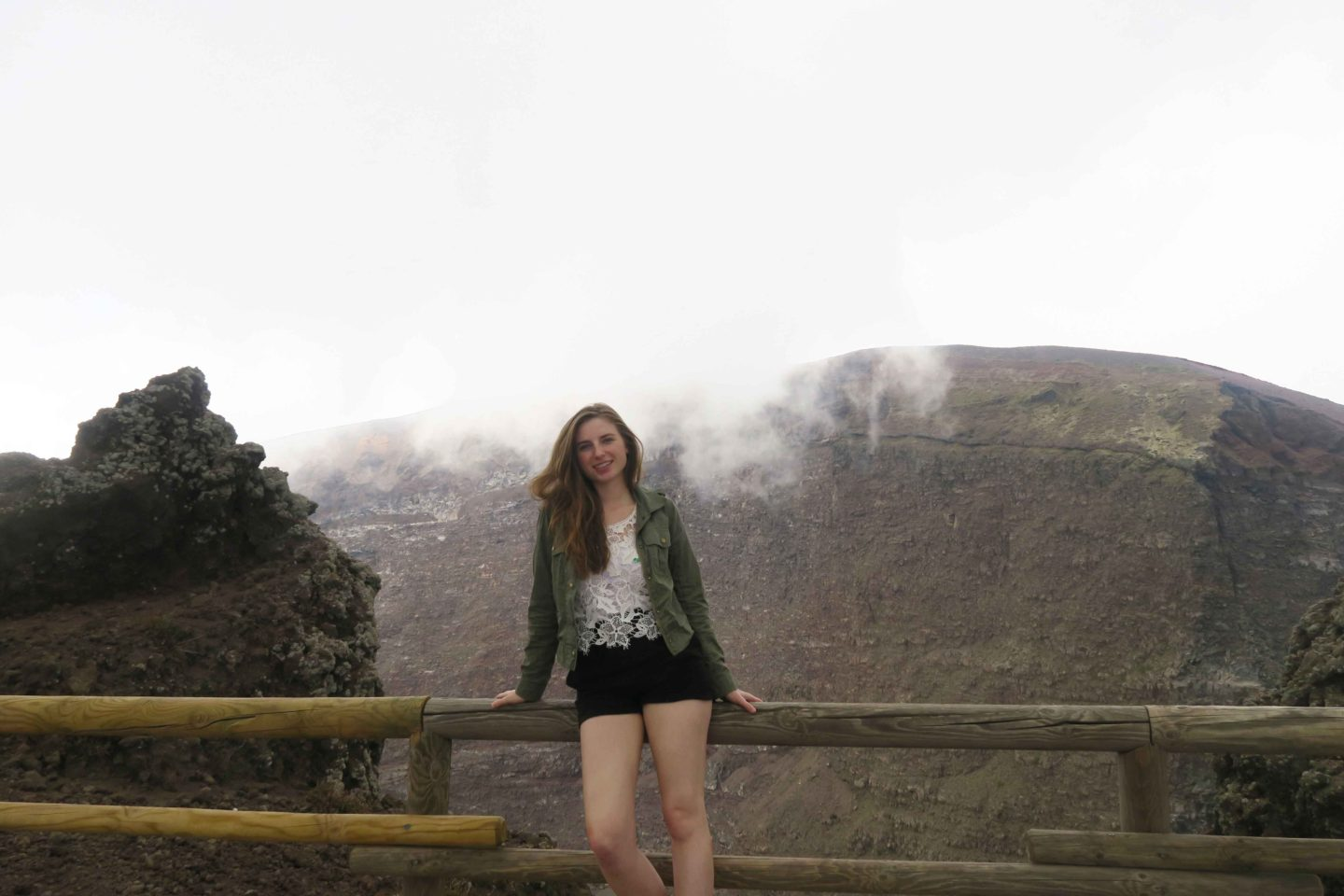 melissa carne on a day trip to mount vesuvius volcano in italy