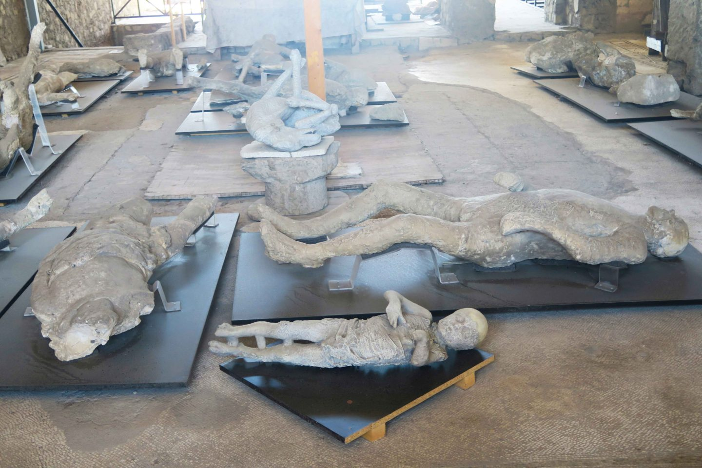 pompeii site with mummified bodies in naples