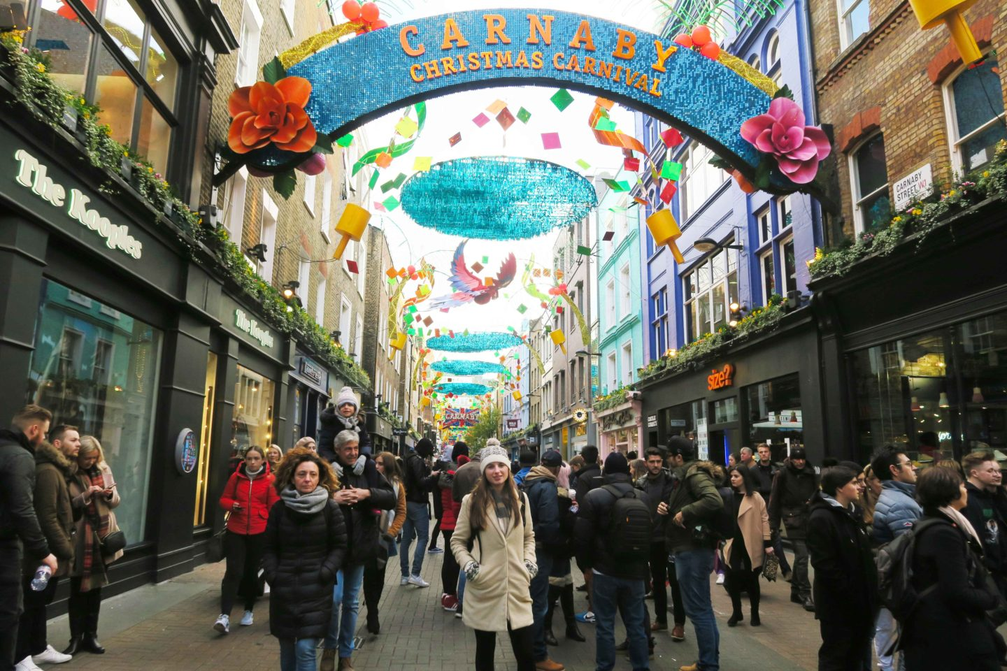 melissa carne at carnaby street christmas decorations