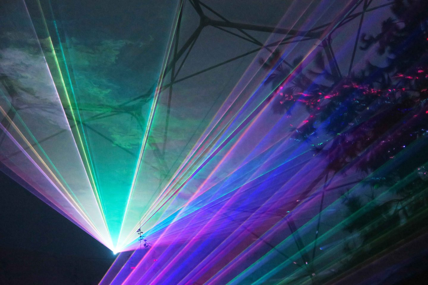 eden project festival of light and sound lasers