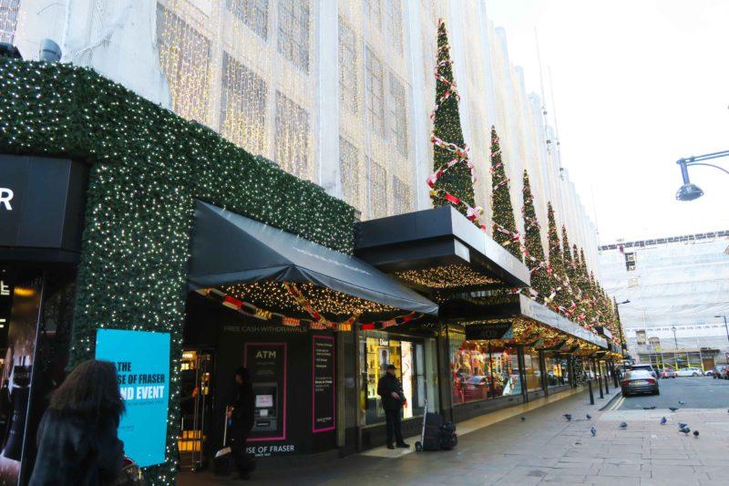 john lewis shop in london at christmas