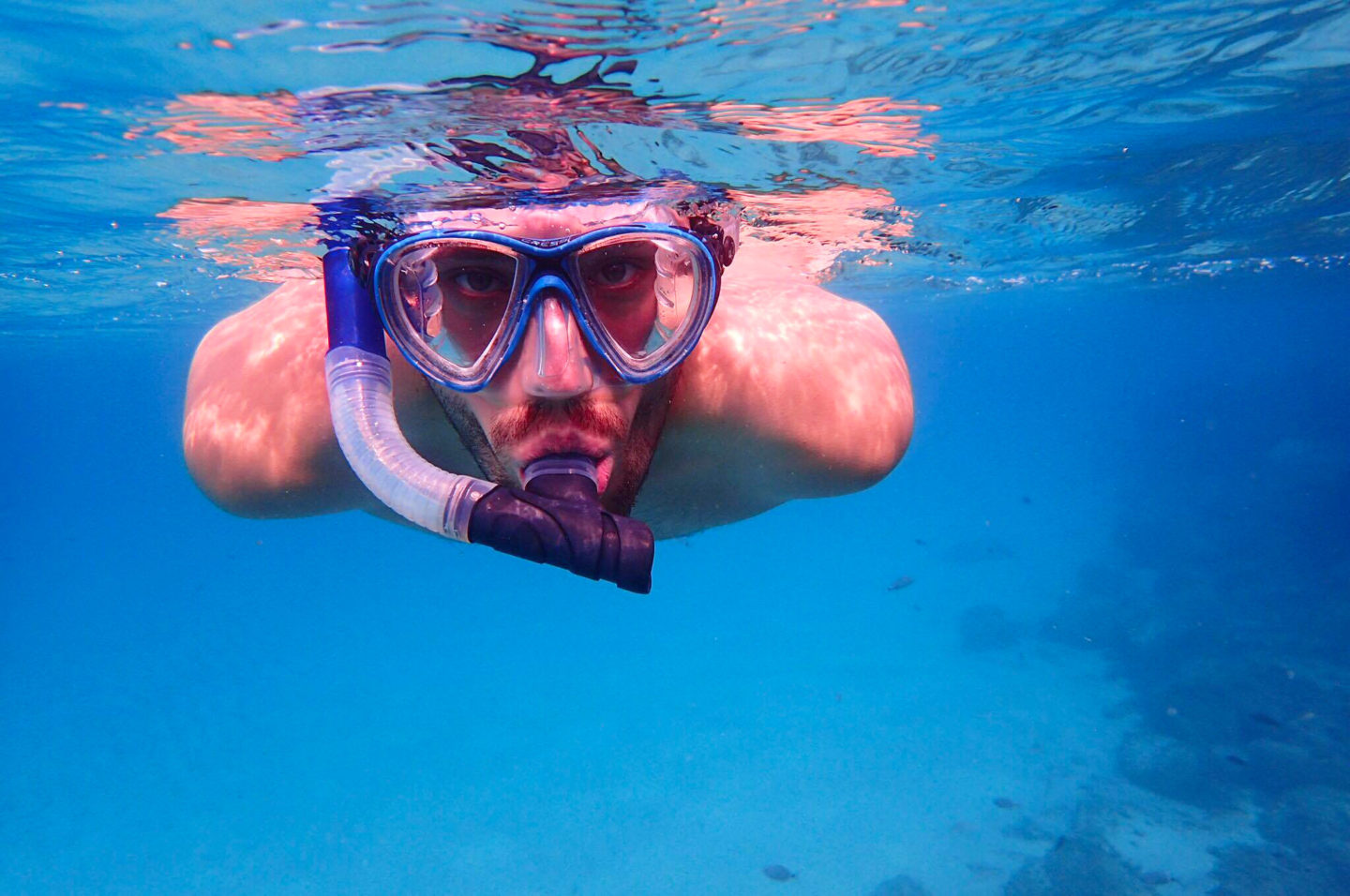 man-snorkelling-mykonos-greece