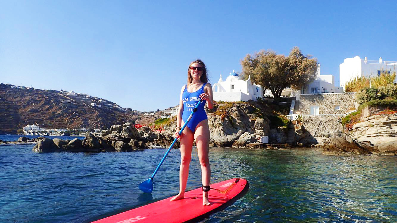 paddle-boarding-girl-mykonos-greece