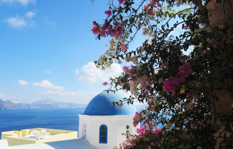 santorini oia church top