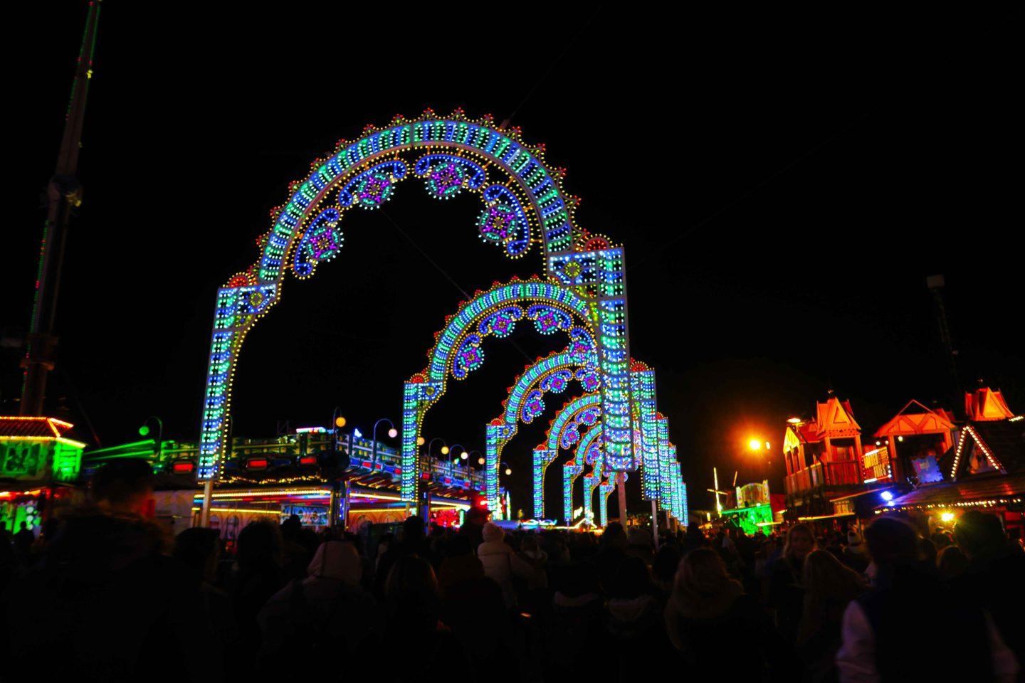 winter wonderland light arches london at christmas