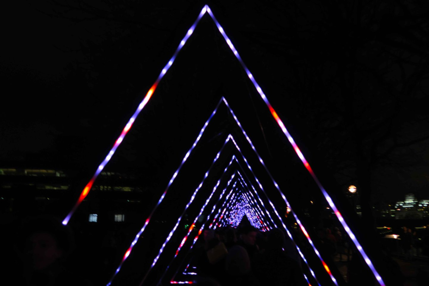 lumiere london triangle lights