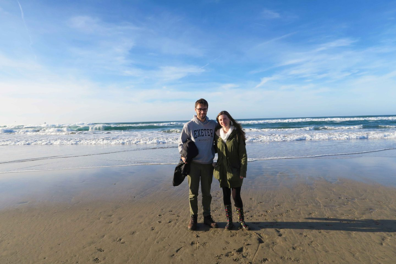 perranporth beach couple