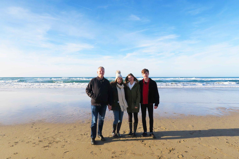 perranporth beach family