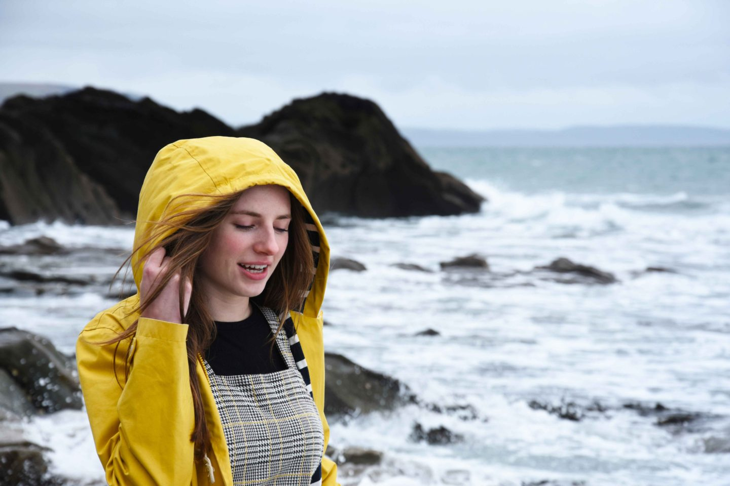 yellow seasalt sea folly jacket worn by melissa carne