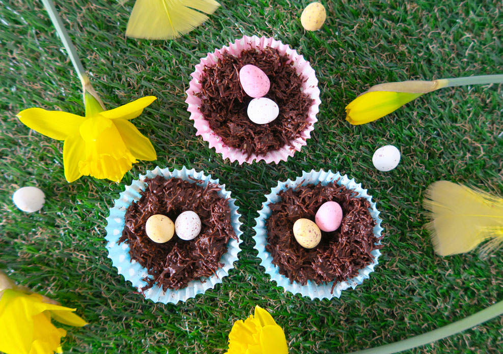 easter treat baking edible nests