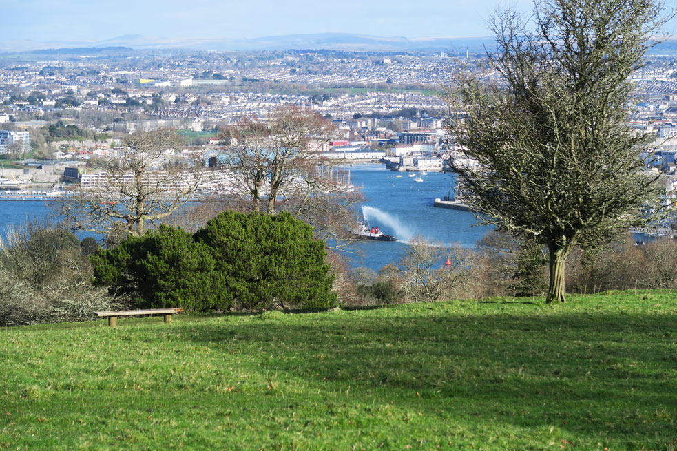 mount edgcumbe view of plymouth ferry